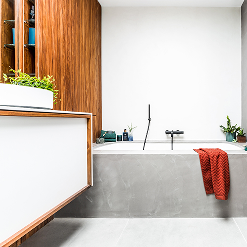 Hedendaags retro badkamer